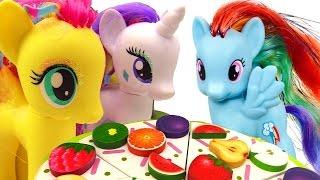Видео для девочек (мультик Пони)! Игрушки для девочек. Май Литл Пони игрушки и День рождения!