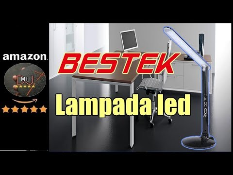 🎬AMAZON►BESTEK® Lampada LED da Tavolo Dimmerabile Pieghevole con Porta USB 5V/500mA(ITA)