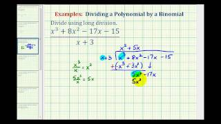 Ex 2:  Divide A Polynomial By A Binomial Using Long Division