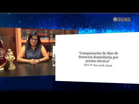 Compensación de días de detención domiciliaria por prisión efectiva Luces Cámara Derecho 118