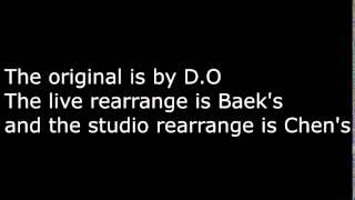 EXO's Black Pearl Vocal Run Comparison -  Baekhyun vs Chen vs D.O