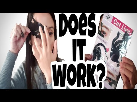 CAT EYELINER STENCILS DEMO AND REVIEW