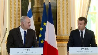 Statements by French President Macron and Israeli PM Netanyahu (Paris - July 16th, 2017)