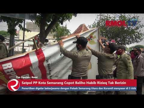 Copot Baliho Habib Rizieq Tak Berizin oleh Satpol PP Kota Semarang