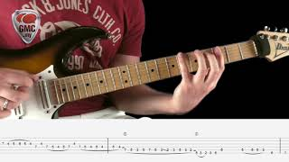 Guthrie Govan Lick w/ tabs & backing