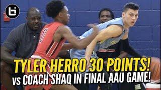 Tyler Herro Scores 30 in Final AAU Game vs Coach Shaq! Full Highlights!