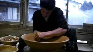 小石原焼ロクロ実演④「二尺大皿」 Koishiwara-yaki Is Typical Of Pottery In Japan