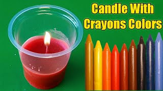 How To Make Candles At Home With Crayons