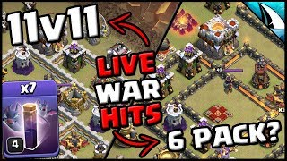 *LIVE* TH11 WAR Lavaloonion Bat Spell | Fresh 6 Pack? | Clash of Clans