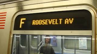 preview picture of video 'IND Queens Blvd Line: R160A-2 F Train at Kew Gardens-Union Turnpike (FASTRACK-Roosevelt Ave Bound)'