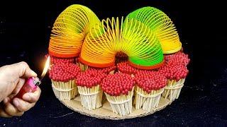EXPERIMENT Match VS Magic Slinky Rainbow Springs toy