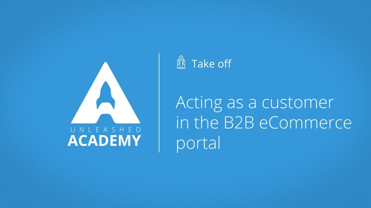 Acting as a customer in the B2B eCommerce portal YouTube thumbnail image