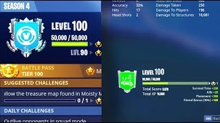 How to LEVEL UP FAST in FORTNITE! How to Reach SEASON LEVEL 100 the FASTEST in SEASON 4!
