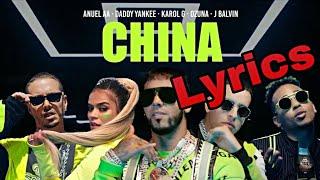 Anuel AA - China (Lyrics/Letra) Karol G, J. Balvin, Daddy Yankee, Ozuna
