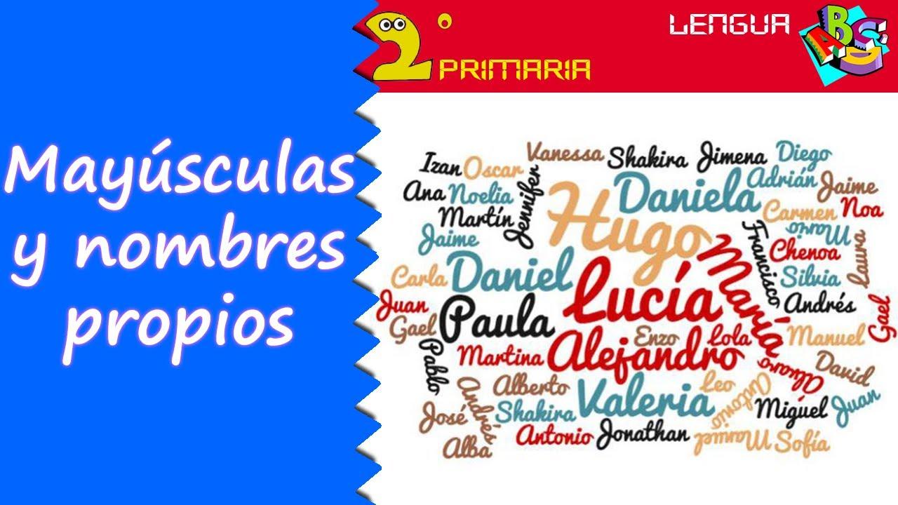 Lengua, 2º Primaria. Tema 2. Las mayúsculas 2: nombres propios