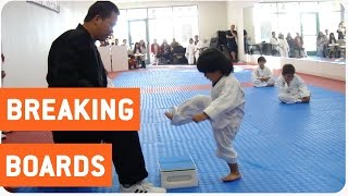Little Boy Trying to Break Board in Taekwondo | The New Karate Kid