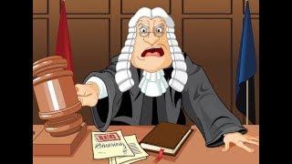 Смотрите как судья растерялся в зале своего суда