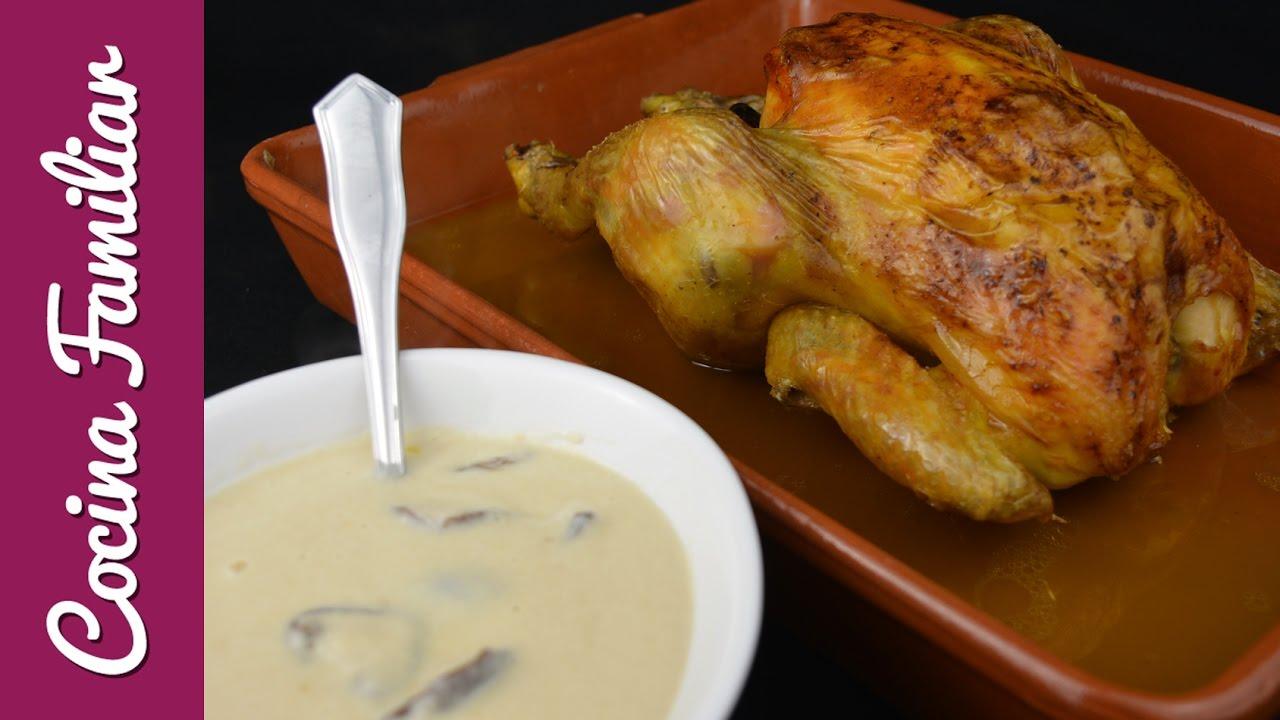 Pollo asado con salsa Strogonoff | Javier Romero