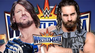 WWE 2K16: AJ Styles vs Seth Rollins WrestleMania 33 Promo
