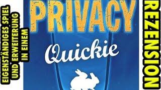 Privacy Quickie - Rezension auf deutsch • eigenständiges Kartenspiel & Erweiterung