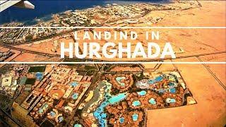 [4K] Landing in Hurghada, Landeanflug auf Hurghada  International Airport - Fly Egypt Airlines