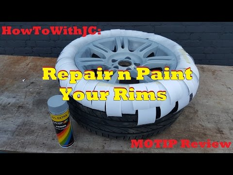 How to repair and paint rims (MOTIP review)