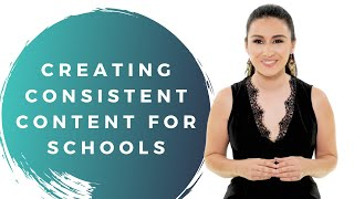 Are you a school looking to create content on a consistent basis?