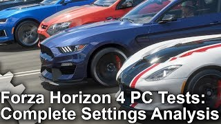 Forza Horizon 4 PC Analysis: Complete Settings Guide + Xbox One X Comparisons!