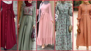 Latest Formal & Casual Wear Long Floor Length Abayas Hijabi Dress