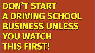How to Start a Driving School Business | Including Free Driving School Business Plan Template