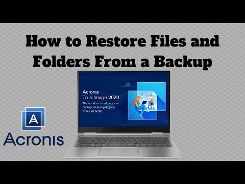How to Restore Files and Folders From A Backup