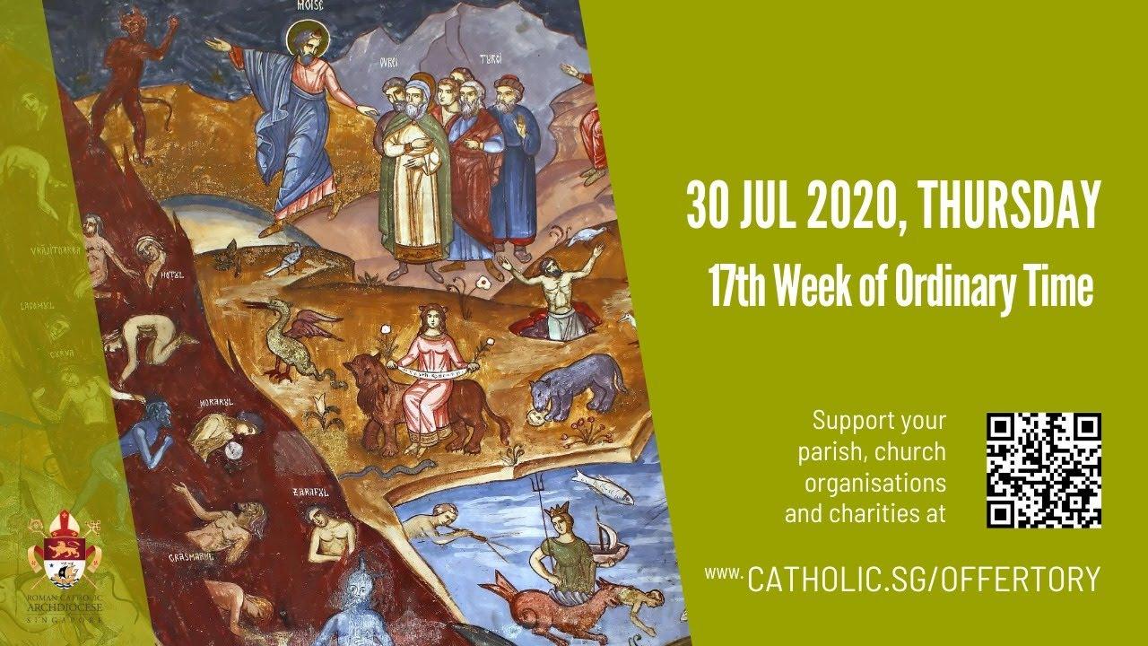 Catholic Live Mass 30th July 2020 Thursday, Catholic Live Mass 30th July 2020 Thursday, 17th Week of Ordinary Time 2020