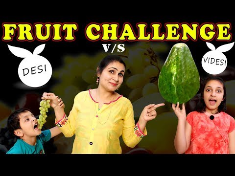 FRUIT CHALLENGE | Healthy Eating #Kids #Funny #Bloopers | Game for kids | Aayu and Pihu Show
