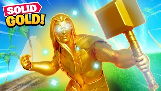 SOLID GOLD THOR In Fortnite!
