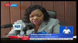 Seven KMPDU officials have been sentenced to jail for contempt of court