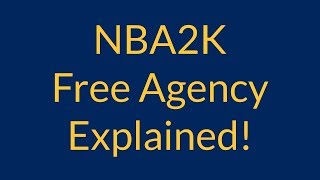 How Free Agency Works in NBA2K MyLeague/MyGM!