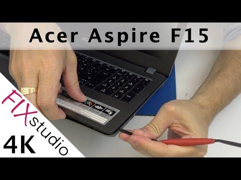 Acer Aspire F15 -  disassemble [4K]