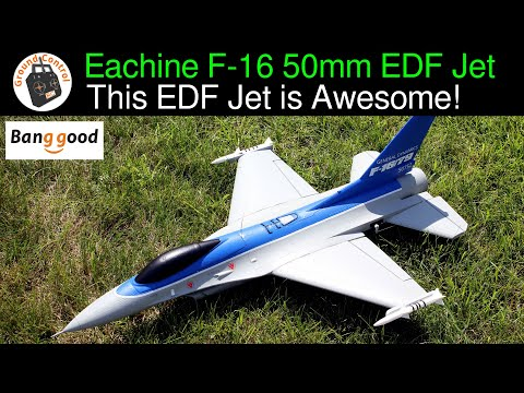Eachine F-16 550mm Wingspan 50mm EDF Jet PNF - Review Part 1 - This is an Awesome Eachine EDF Jet!