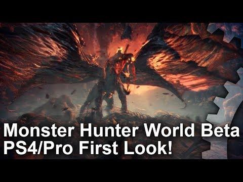 Monster Hunter World Beta PS4 vs PS4 Pro – First Look!