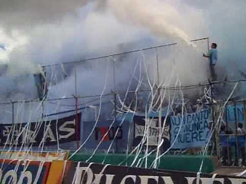 """Ultras Macara Salida Clasico 2008"" Barra: Los Ultras • Club: Macará"