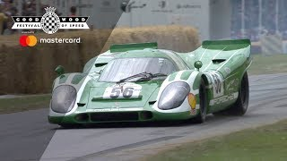 5 Porsche 917s together at Goodwood