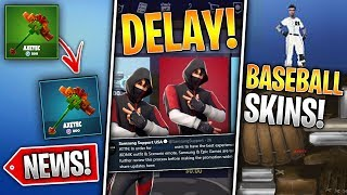 Baseball Skins, Pickaxe Change, Ikonik Skin Delay & More! (Fortnite News)