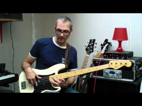 Practicing arpeggios on bass
