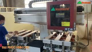 MÁY CNC MỘNG ÂM 3 Trục Woodmaster khoan - Lắc Mộng Âm - Router Chạy rãnh