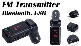 Car FM Transmitter, Charger with Bluetooth function
