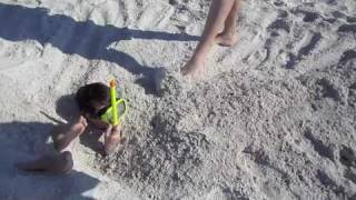 Buried from Head to Toe in the Sand