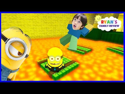 Despicable Me 3 Minion Game! Oh No Floor is Lava! Let's Play Roblox with Ryan's Family Review