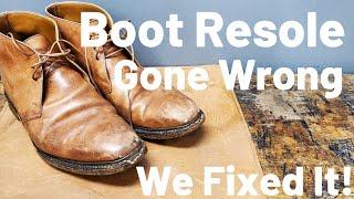 A BAD Resole Job on These Crockett & Jones Chukka Boots | We Refurbish Them Correctly