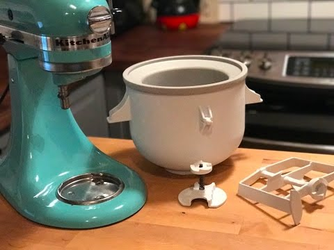 KitchenAid Ice Cream Maker Blogger review and demonstration