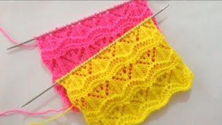 Beautiful Lace Knitting Stitch Pattern For Sweater/Cardigan/scarf